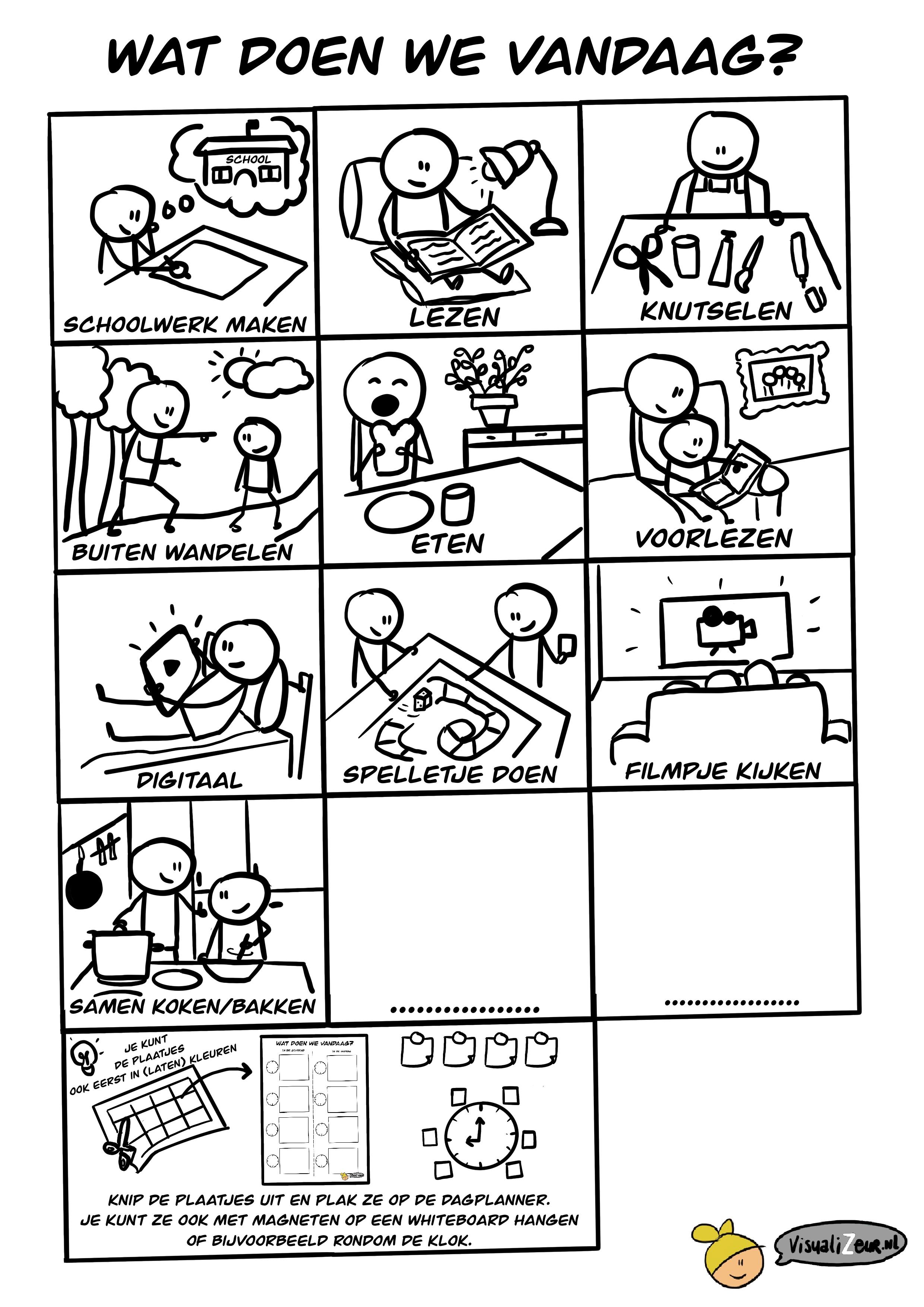 Dagplanner plaatjes