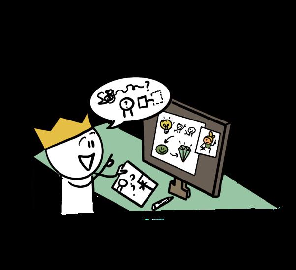Persoonlijke praatplaat Zakelijk tekenen Tekeningen Visualiseren